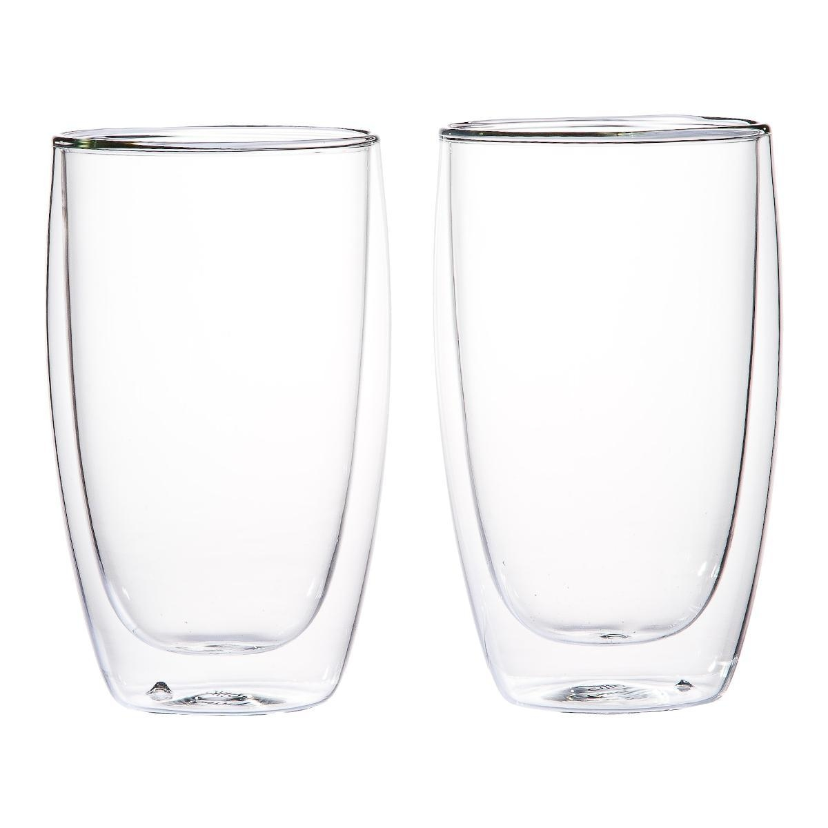 Cilio Set 2 skleněných šálků na latte machiato 450 ml
