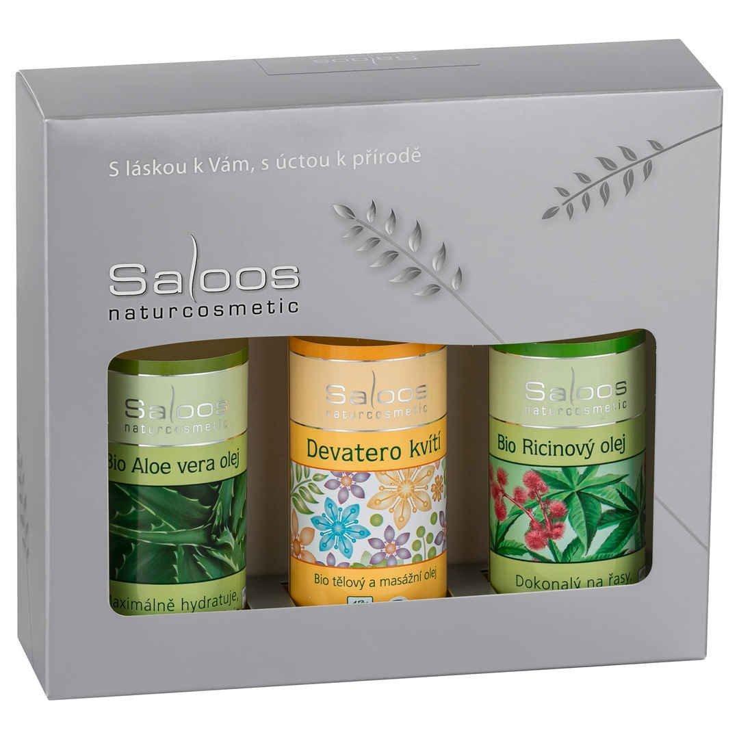 Dárková sada produktů Saloos - Ricin+Aloe Vera+Devatero kvítí