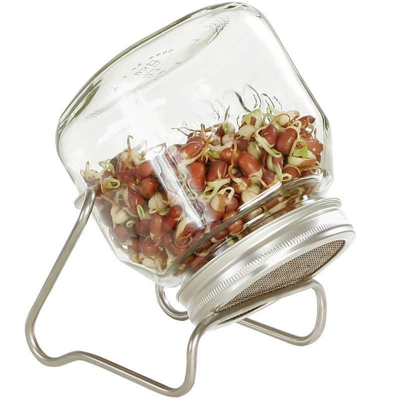Sklenice na klíčení semen se stojánkem - 750 ml