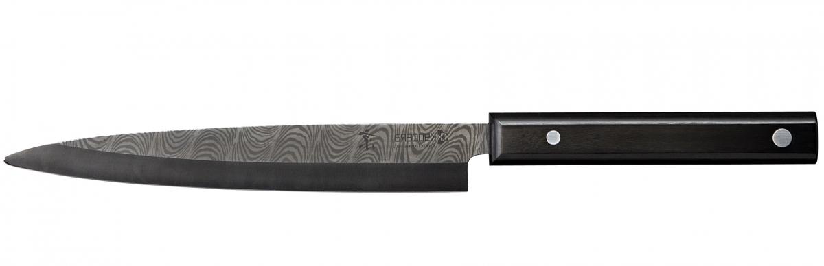 Keramický nůž Kyocera Kyotop Sashimi KT-200, 20 cm, černý